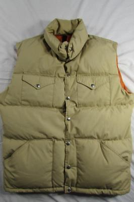 Vtg 70s 80s The North Face Brown Label Puffy Fill Goose Down Vest L Puffer USA