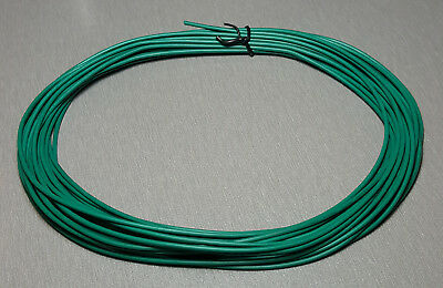 10 Metres GREEN UL-1007 Hookup Wire 18AWG 2.1mm PVC insulator