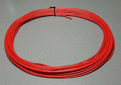 10 Metres RED UL-1007 Hookup Wire 18AWG 2.1mm PVC insulator