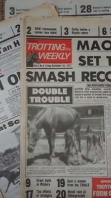 1970s National Trotting Weekly newspapers