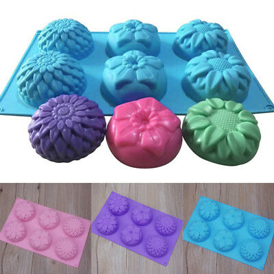 1PC Silicone Soap Mould Cake Chocolate Cookies Baking Candle Mold Ice Cube Tray