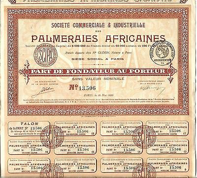Paris 1920,Palmeraies Africaines. VZ++++++.