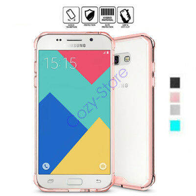 For Samsung Galaxy A3 A5 A7 (2017) Hard Clear Back Bumper Shockproof Case Cover