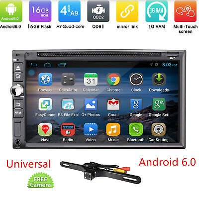 Car DVD Player GPS Navigation System in dash player Android 6.0 Double 2Din +CAM