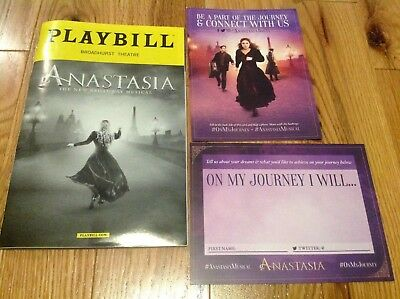 Anastasia Broadway and Playbill with Postcard!