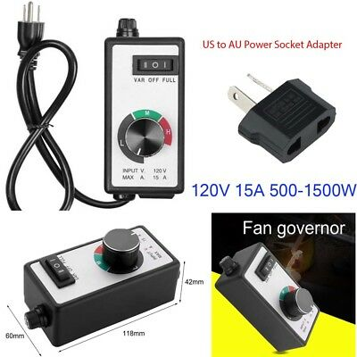 Variable Speed Controller Fan Exhaust Inline Duct Motor Router Blower Hydroponic