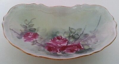 O. & E.G. Royal Austria Antique Hand-Painted & Signed Trinket Dish - 1900's