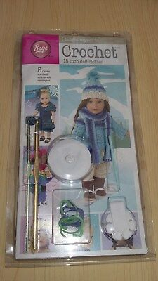 BNIB-Boye-Learn to Crochet Dolls Clothes-Complete Kit with Pattern Book &Tools