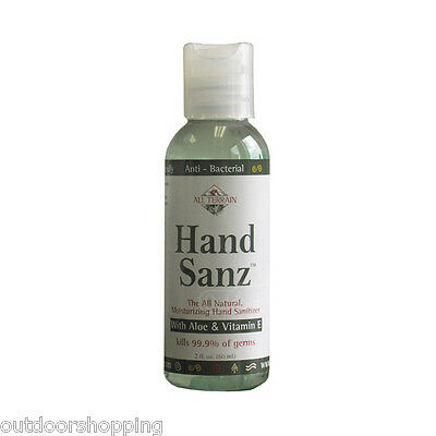 ALL TERRAIN HAND SANZ W/ALOE & VITAMIN E 2 OUNCE/OZ - Kills Germs/Bacteria