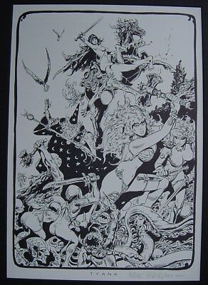 "FRANK THORNE Signed Print ""Tyana"" from Wizards and Warrior Women Portfolio 1978"