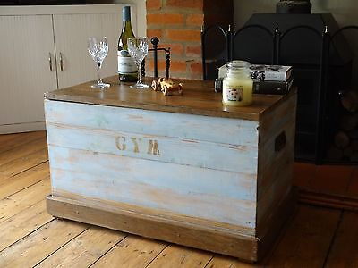 "Vintage Pine Chest / Trunk - 32"" X 20"" X 20"" - Large -"