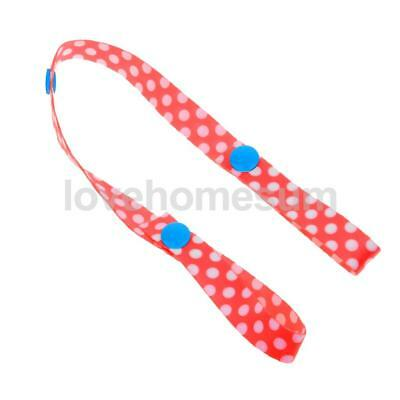Baby Stroller Straps Anti Drop Toy Fastening Pacifier Clips Hanger Red Dots