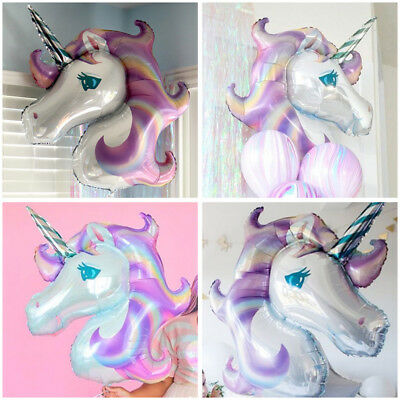 1Pcs Ballon Aluminium Grand Licorne Decoration Anniversaire Party Noël Halloween