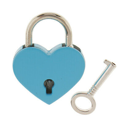 2Pcs Mini Heart Shaped Padlock Tiny Travel Luggage Shackle Suitcase Locker M