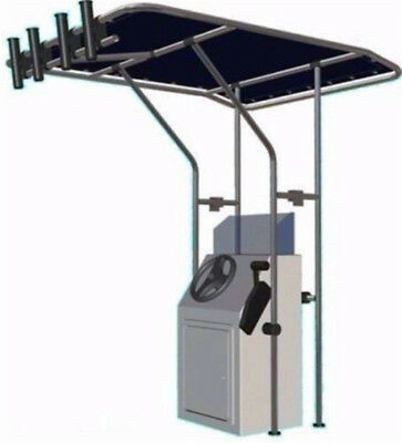 Ocean South Boat T Top,Center Console Boat T-top , Aluminium Tube T Top (Blue,L)