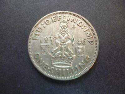 1946 One Shilling Coin The Scottish Type Good Circulated Condition, 50% Silver.