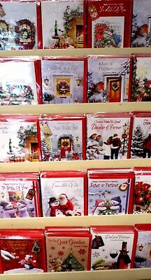 21p! CHRISTMAS 1200 CARD PACKAGE DEAL  200 designs,RELATIONS -GENERAL,WRAPPED