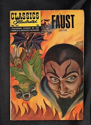 Classics Illustrated #167 Vg+ Hrn166  Faust (Goethe)