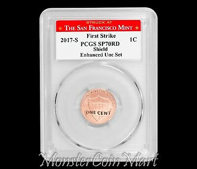 2017-S Enhanced Uncirculated Set Lincoln Cent PCGS SP70RD First Strike - SF MINT