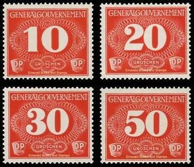 EBS Generalgouvernement 1940 Occupied Poland Delivery Stamps Michel Z1-4 MH*