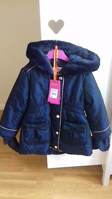 Baby Girls Ted Baker Navy Coat Aged 18-24 Months.. Beautiful! 🖤