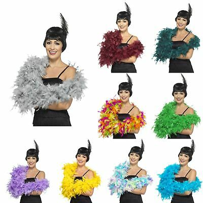 180cm Deluxe Feather Boa 20s Gatsby Flapper Burlesque Fancy Dress Hen Accessory