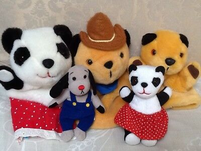 Sooty And Sweep Hand Puppets Bundle ~ Plush British Childrens Retro TV