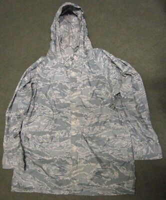 Us/usaf Abu/tiger Stripe Waterproof Improved Rainsuit Parka/jacket. Medium. Orc.