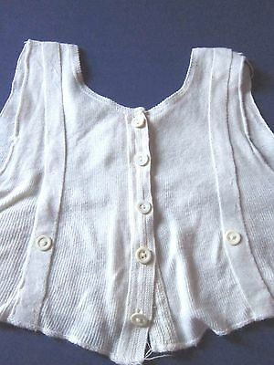 vintage pre 1930's Child's button tee-shirt undershirt white button waist