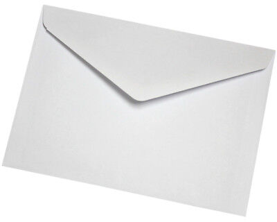 C6 White Envelopes for A6 Cards, Gummed, Diamond Flap, 80gsm -  FREE P&P