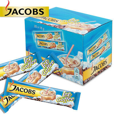 JACOBS 3in1 ICE COFFEE INSTANT SACHETS SINGLE SERVINGS FRESH STOCK WHOLESALE UK