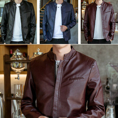 Men's Leather Jackets PU Jacket Men's jacket Male Outwear Coats Spring Autumn
