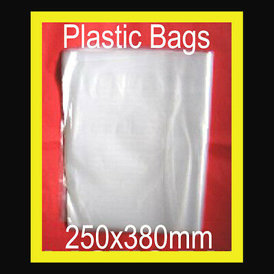 PLASTIC BAGS 30 PACKING POST MAIL STORE 250x380mm CLEAR POLY CAN  HEATSEAL NEW