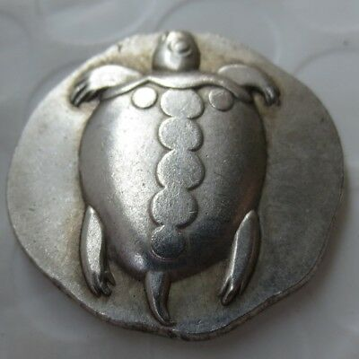 Rare  Ancient Greek Silver Tortoise Stater Coin from Aegina  Repro