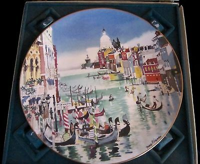 Royal Doulton Dong Kingman Ltd Ed Bone China Plate - Venice - w/ Box - 10.25 in