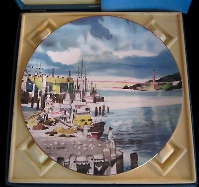 Royal Doulton Dong Kingman Ltd Ed Bone China Plate San Francisco - w/ Box 10.25'
