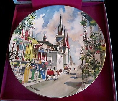 Royal Doulton Dong Kingman Ltd Ed Bone China Plate - French Quarter - 10.25 in.