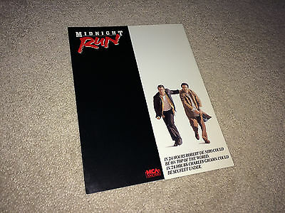 MIDNIGHT RUN Vintage Movie Promo Brochure Pressbook 1988 Robert DeNiro Action