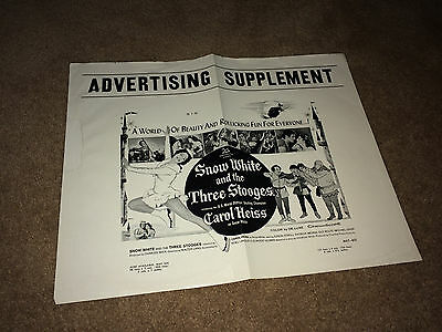 SNOW WHITE & THE THREE STOOGES Orig Movie Pressbook Supplement 1961 Comedy