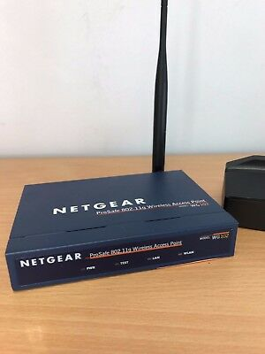 Netgear ProSafe WG102 802.11g Wireless Access Point with PoE with Power Supply