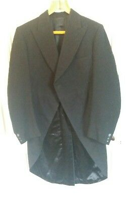 "Vintage bespoke morning dress suit.Tailcoat,vest,2 trousers.38-40"" chest."
