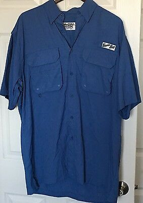 Men's Tarpon Bay Trading Company Short Sleeve Fishing/boating Shirt Size Large