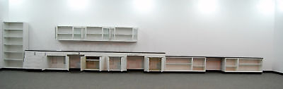 Fisher Hamilton 38' Steel Lab Cabinets with 12' Uppers