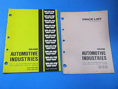 1972 Weiand Manifolds Blowers Catalog Brochure Prices Vintage Original