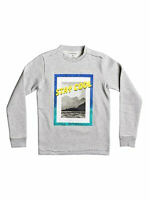 Quiksilver Stay Cool Youth Sweatshirt Light Grey M - (Age 12) Make an offer!