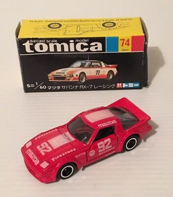 Tomica Mazda Savanna Rx7 Racing 1/60 Scale Made In Japan