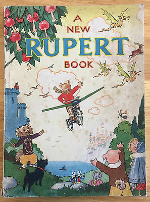 RUPERT ORIGINAL ANNUAL 1945 Neatly Inscribed Not Price Clipped Very Good