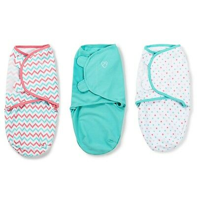 Swaddling blanket summer swaddle me 3 Pack Small 7-14lbs Zig Zag / Dot