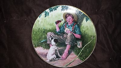 """the Barefoot Boy"" Norman Rockwell, Coca-Cola Ltd. Edition Collector Plate"