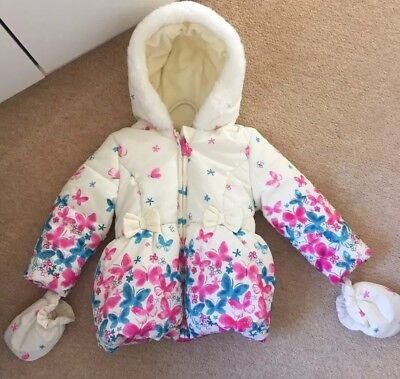 M&Co Butterfly Cream Coat 12-18 Months